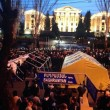 Homeland Salvation Movement supporters pitched tents on Baghramyan Street on Feb. 25