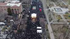 Thousands of people flooded Baghramyan Street on March 1 for a Homeland Salvation Movement rally