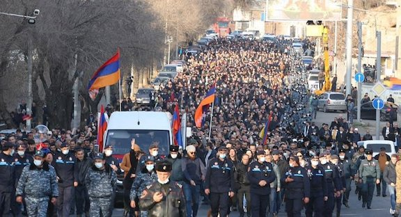 "Thousands gather for ""Nation, Army, Victory"" Rally in Yerevan on March 6"