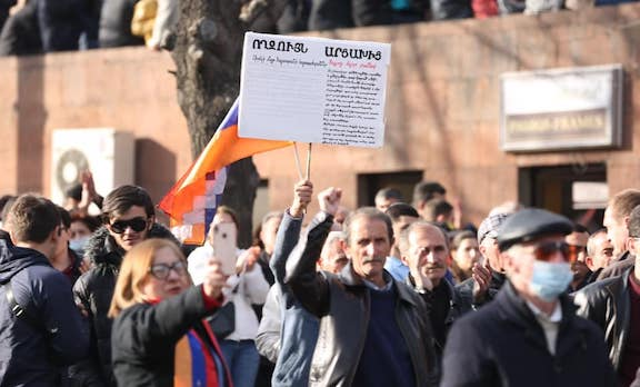 "Residents of Artsakh joined the ""Nation, Army, Victory"" rally on March 6"
