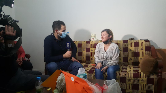 Maral Najarian grants an interview upon her release