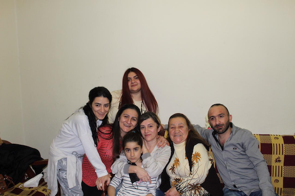 Maral Najarian (center) reunited with her family Beirut
