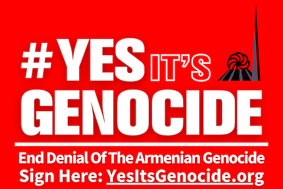 Yes It's Genocide Logo feature