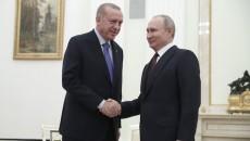 Russian President Vladimir Putin (right) and his Turkish counterpart Recep Tayyip Erdogan at the Kremlin in March, 2020