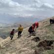 ATP team members planting seeds in Aznavadzor, Lori Region of Armenia