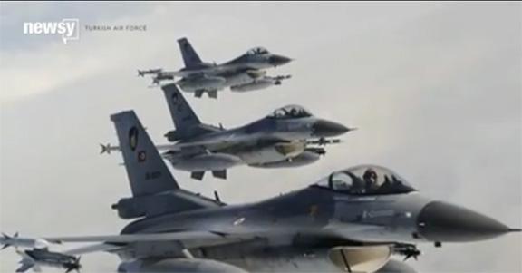 Turkish war planes that were used to attack Kurds