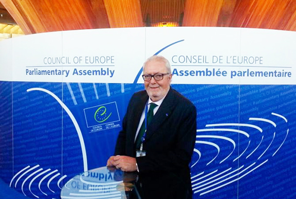 Newly-elected PACE president Pedro Agramunt