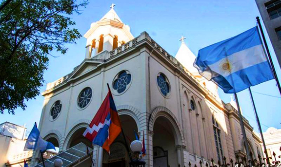 Armenian St. Gregory the Illuminator Cathedral in Buenos Aires. (Source: Public Radio of Armenia)