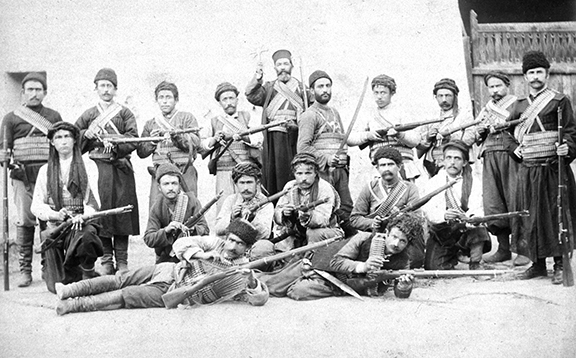 A group of fedayees in the Khanasor Expedition