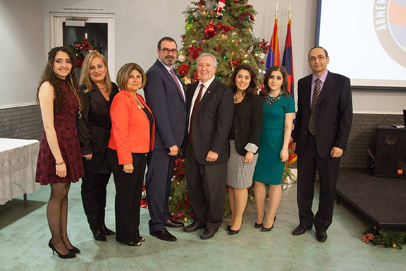 ANCA Glendale Members at the Annual Christmas Party.