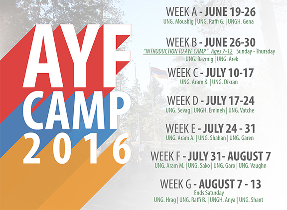 AYF Camp Dates