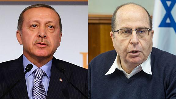 Turkish President Erdogan; Defense Minister Ya'alon (Source: AP, Emil Salman)