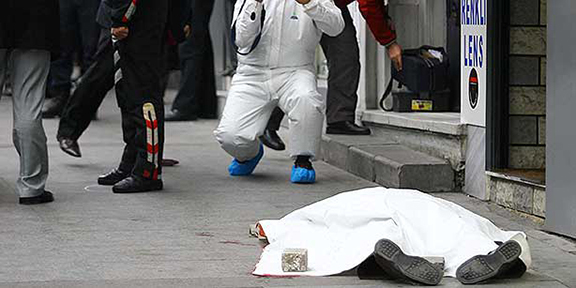 Turkish-Armenian journalist Hrant Dink was assassinated in 2007 in front of the Agos daily headquarters. (Source: Cihan)
