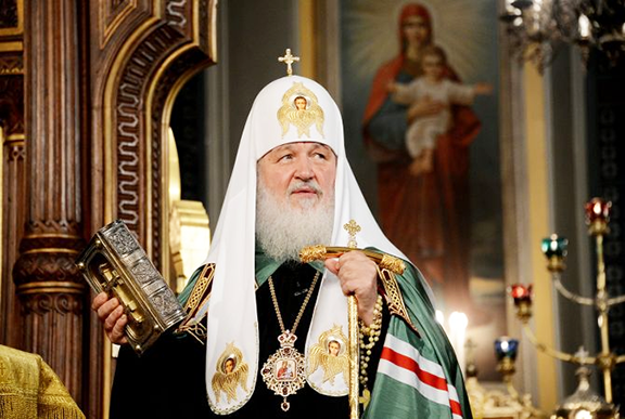 Patriarch Kirill, the head of thel Russian Orthodox Church