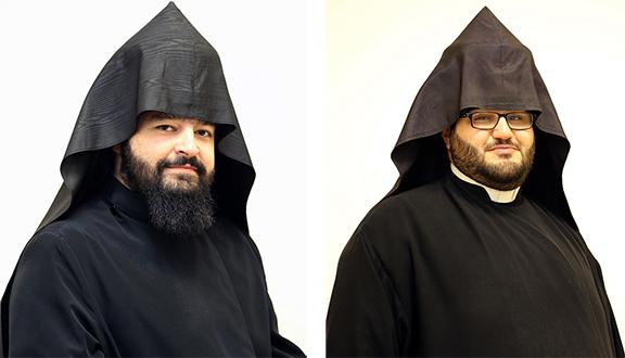 From left, Very Rev. Fr. Barouyr Shernezian and Very Rev. Fr. Dajad Ashekia