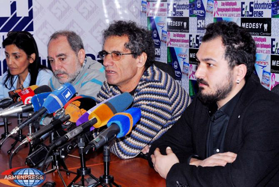 A group of Dersim Armenians during a press conference in Armenia. (Source: Armenpress)