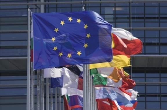 Flags of the European Union and member states.