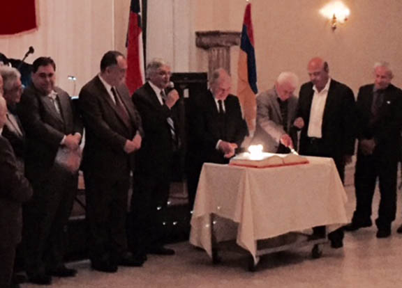 Members of the Houston ARF presenting the ARF 125 cake.