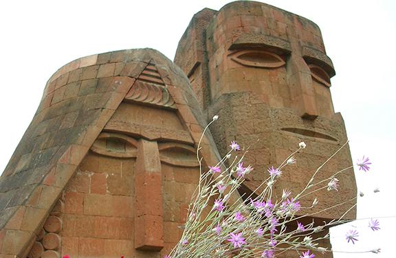 Mamik and Babik statue in Karabakh