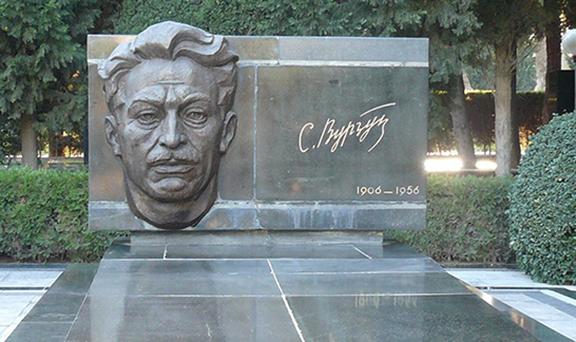 The grave of writer Samad Vurgun
