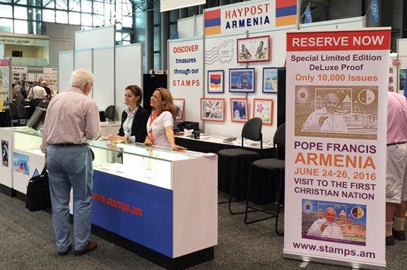 HayPost, Armenia's national postal operator, placed second at the philately competition in New York (Source: ArmRadio)