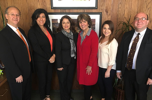 ANCA Glendale board members meet with Mayor Paula Devine