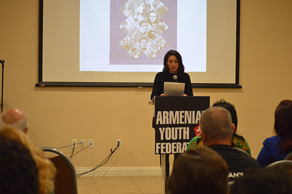Dr. Talar Chahinian delivers her message