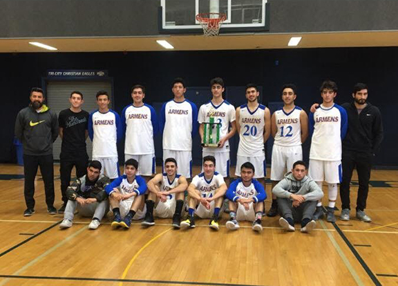 Ferrahian Boys Varsity Basketball Team 2017