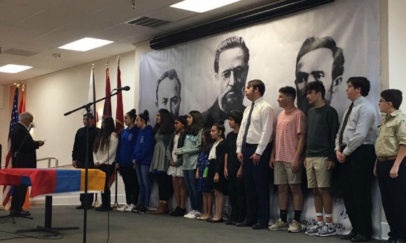 Fifteen new members joined the Fresno chapter of the AYF Juniors on March 26, 2017.