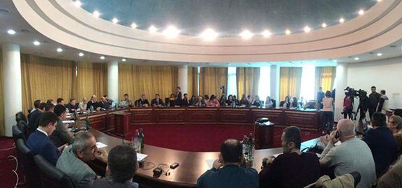 International Bloggers Forum commences in Stepanakert, Artsakh on March 19, 2017 (Photo: Irina Safaryan)