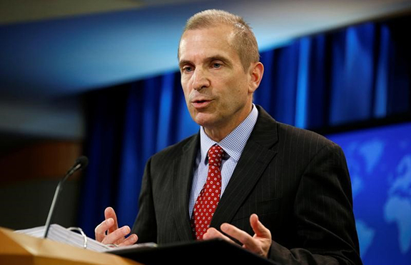 Acting State Department Spokesperson Mark Toner speaks during a news briefing at the State Department in Washington, U.S., March 7, 2017. (Photo: Reuters)