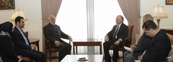 Armenian Foreign Minister Edward Nalbandian receives Deputy Foreign Minister of Iran on March 24, 2017 in Yerevan (Photo: Ministry of Foreign Affairs of Armenia)