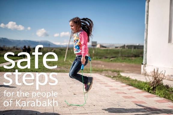 The Safe Steps campaign launched in 2016 with the aim to clear all landmines in Karabakh by 2020 (Photo: The HALO Trust)