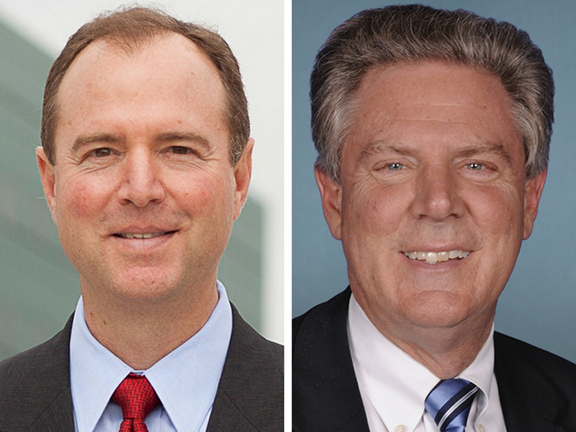 Congressmen Adam Schiff (D-CA) and Frank Pallone (D-NJ)