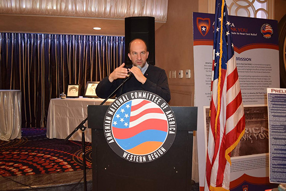 LAUSD President and ANCA-WR Endorsed Candidate for LAUSD Steve Zimmer Discusses Importance of Armenian Genocide Education in Public Schools at ANCA-WR Armenian Genocide Education Awards Luncheon