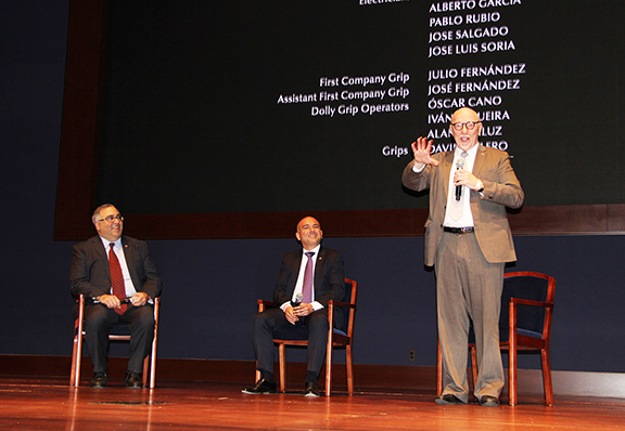 """Oscar-winning director Terry George and producer Eric Esrailian offer insights regarding the making of the Armenian Genocide-era epic """"The Promise,"""" during a question and answer session moderated by the ANCA's Aram Hamparian."""