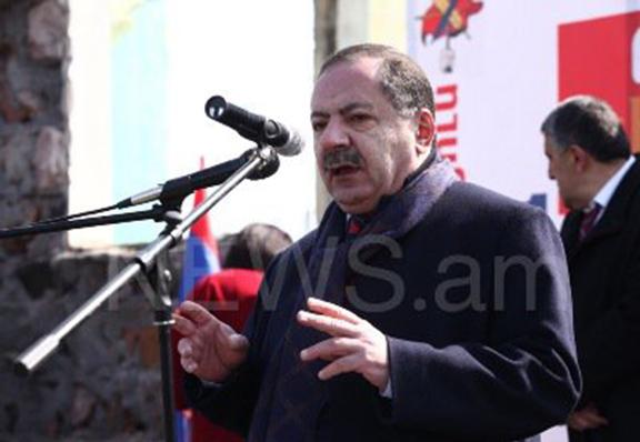 Aghvan Vartanyan in Gegharkunik on Thursday