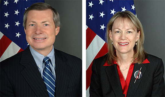 James Warlick , the former US Minsk Group Co-Chair and his wife, Mary, an energy envoy at the State Department