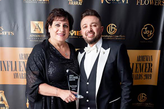 ANCA-WR Chairperson Nora Hovsepian and Pan Armenian TV Producer Ara Kazaryan