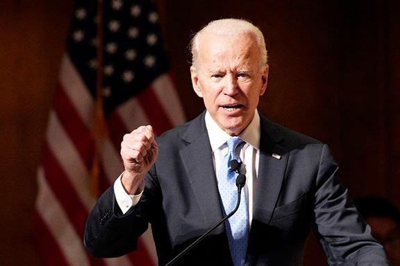 Democratic presidential hopeful Joe Biden