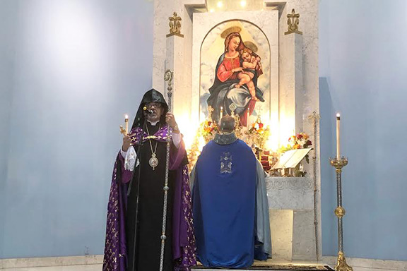 Western Prelate Archbishop Moushegh Mardirossian presides over Divine Liturgy at St. Garabed Church on Father's Day