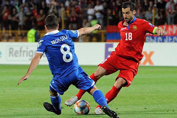 Armenia National Soccer Team captain Herikh Mkhitaryan during Saturday's match with Lichtenstein