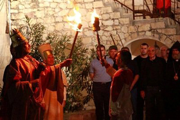 Lighting of the third torch of the Pan-Armenian Games in Tigranakert, Artsakh