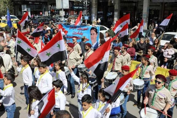 Scenes from the Armenian scouts' ceremony in Damascus