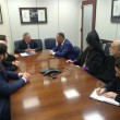 ANCA Chairman Raffi Hamparian, ANCA National Board Member Ani Tchaghlasian, Archbishop Anoushavan Tanielian, Prelate of the Prelacy of the Armenian Apostolic Church of Eastern U.S., and community leaders meeting with Senator Menendez (D-NJ) on a broad range of Armenian American concerns.