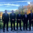 OSCE Minsk Group co-chairs with Armenian and Azerbaijani foreign ministers in Geneva on Oct. 30