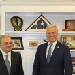 Armenia's Foreign Minister Zohrab Mnatsakanyan with U.S. National Security Advisor Robert C. O'Brien on Oct. 23 in Washington
