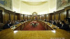 Prime Minister Nikol Pashinyan meets with leaders of political forces not represented in parliament on Oct. 19