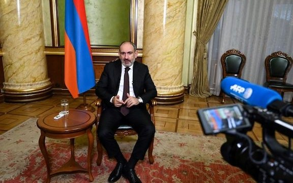 Prime Minister Nikol Pashinyan sat down for an interview with AFP on Oct. 6