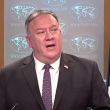 Secretary of State Mike Pompeo during a press briefing on Oct. 14